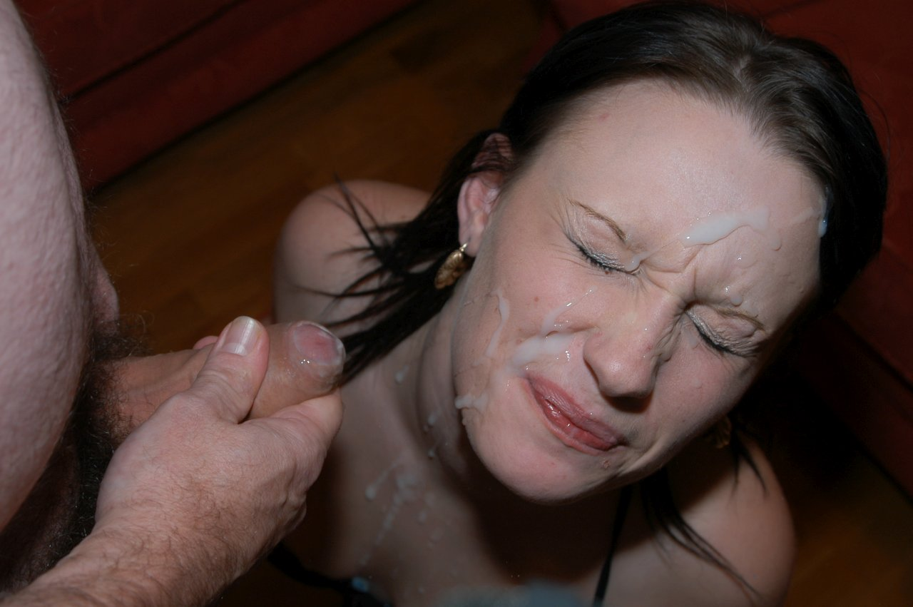 sluts with cum on their face