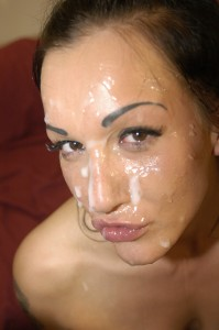 Look at the mess left on Chantelle Fox's face